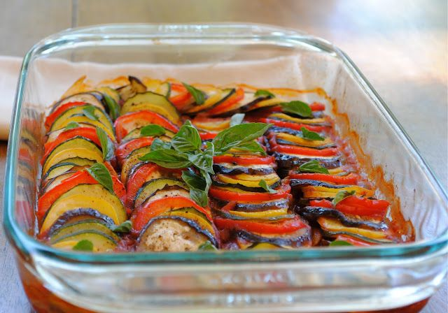 "Layered Ratatouille a la ""Ratatouille"" 
