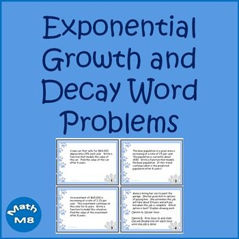 Exponential Growth And Decay Word Problems Math Explorations