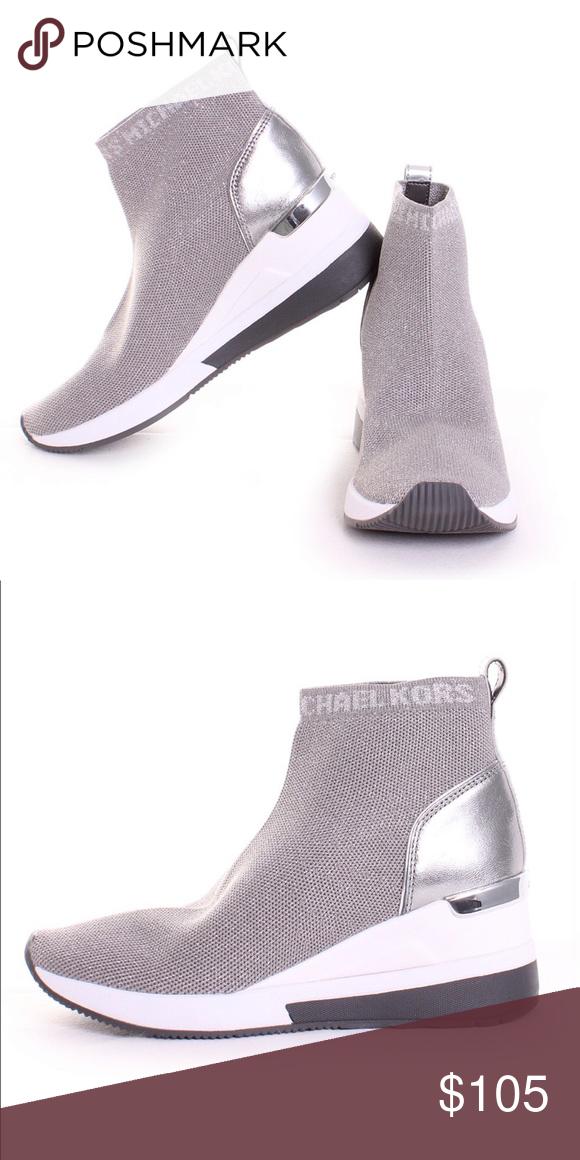 5cb681145e78 Michael Kors Skyler Sneaker Booties Michael Kors Skyler Sneaker Booties  Sterling Brand New 100% Authentic Photos via Google Does not ship in original  shoe ...