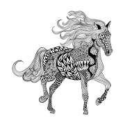 Ausmalbild Mit Laufendem Pferd Dieses Hat Eine Wallende Mahne Pferdekunst Malvorlagen Pferde Ausmalbilder Pferde