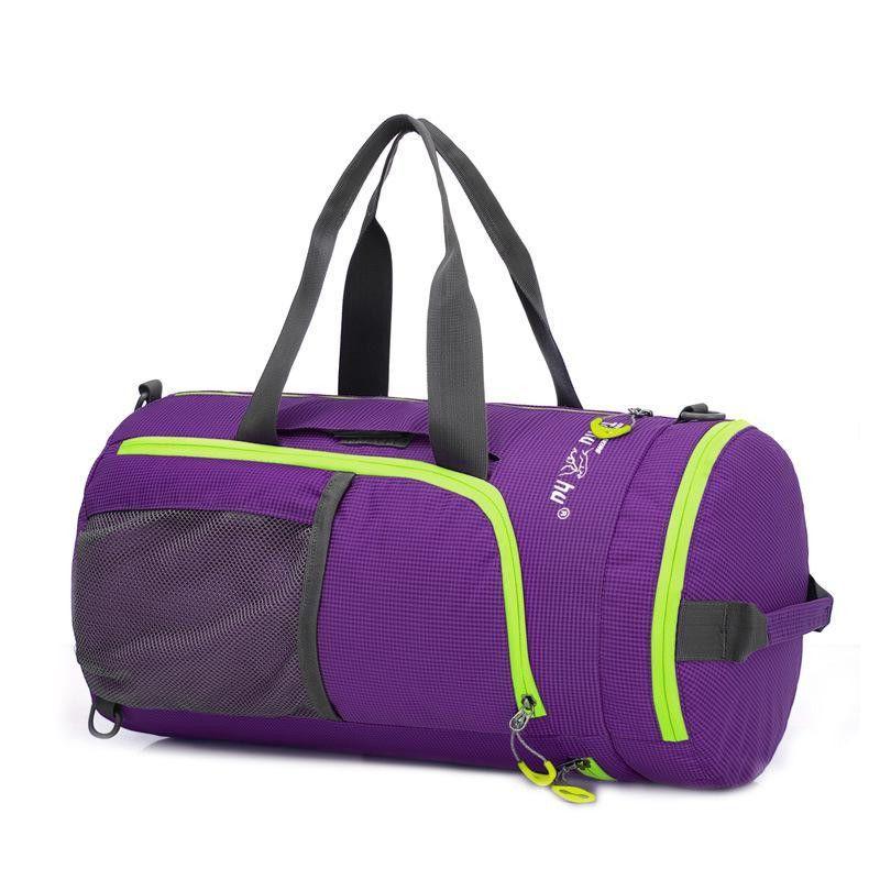 Foldable Fitness Bags Women Sport Training Shoulder Waterproof Nylon Gym Bag NEW