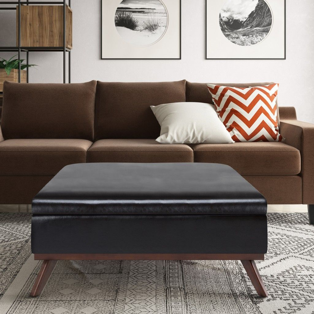 Owen 36 Inch Wide Mid Century Modern Square Coffee Table Storage Ottoman In Ta In 2021 Square Storage Ottoman Storage Ottoman Coffee Table Leather Ottoman Coffee Table [ 1024 x 1024 Pixel ]