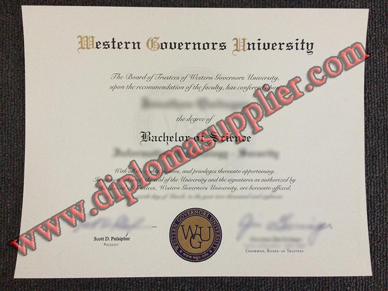 Fake Western Governors University Diploma Sample Diploma Online University Diploma Diploma