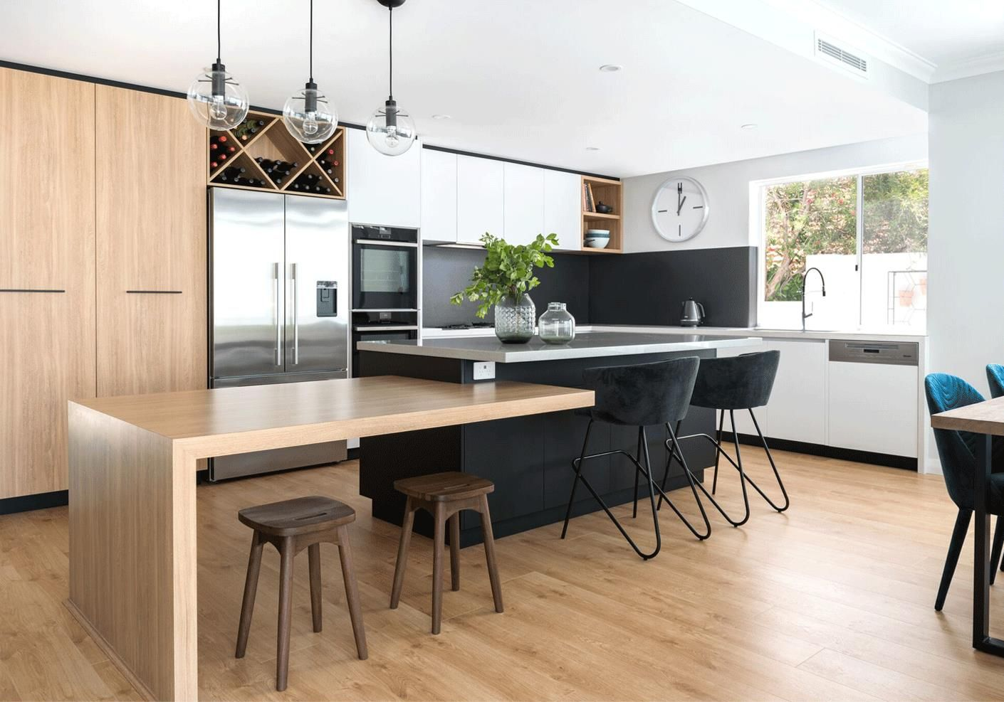 Honey Elm By Laminex Contemporary Kitchen Island Kitchen Design Modern White Modern Kitchen Island