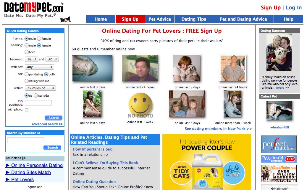Datemypet online dating service