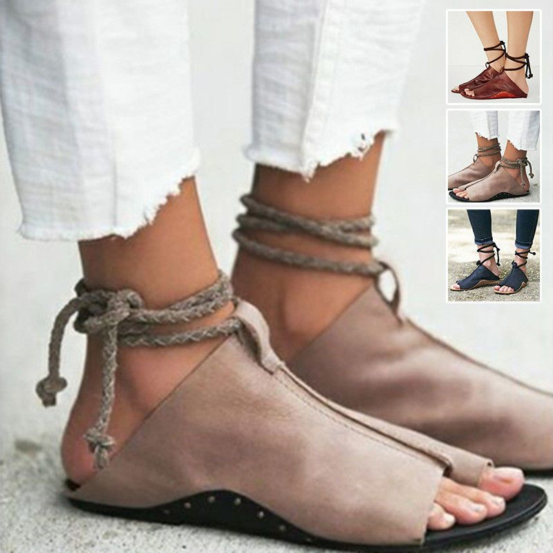 c33e6314340 Summer Women Girl Gladiator Sandals Shoes Thong Flops Flip Flat Size  Strappy Toe  ebay  Fashion