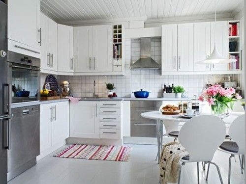 10 Cocinas Color Blanco Estilo Escandinavo | cocinas | Pinterest ...