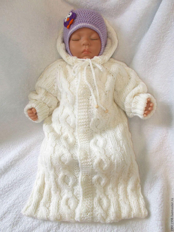 Конверт для новорождённого спицами: 16 моделей со. - Вязание 44
