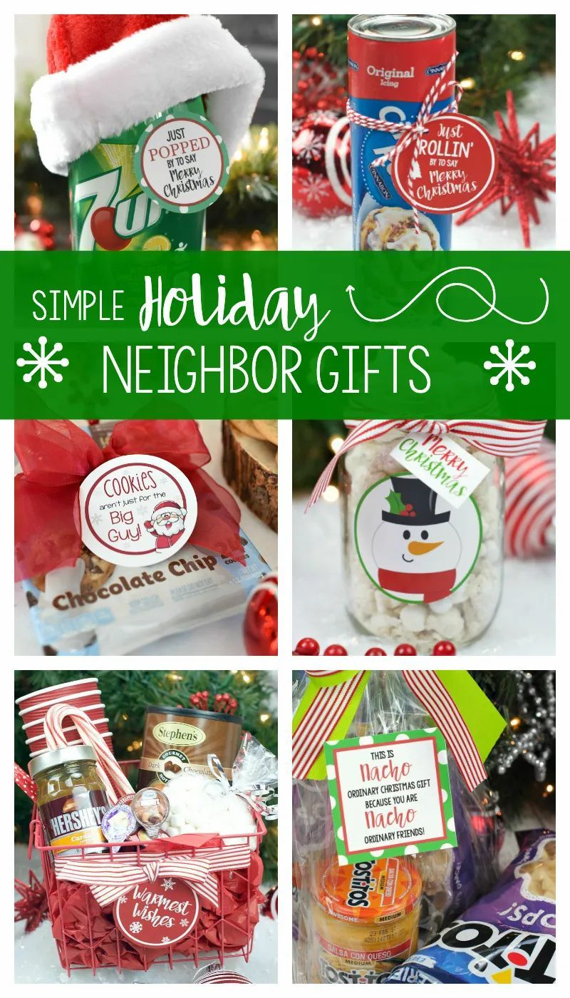 Fun Christmas Gifts For Neighbors Fun Squared In 2020 Easy Christmas Gifts Neighbor Christmas Gifts Simple Holiday Gifts