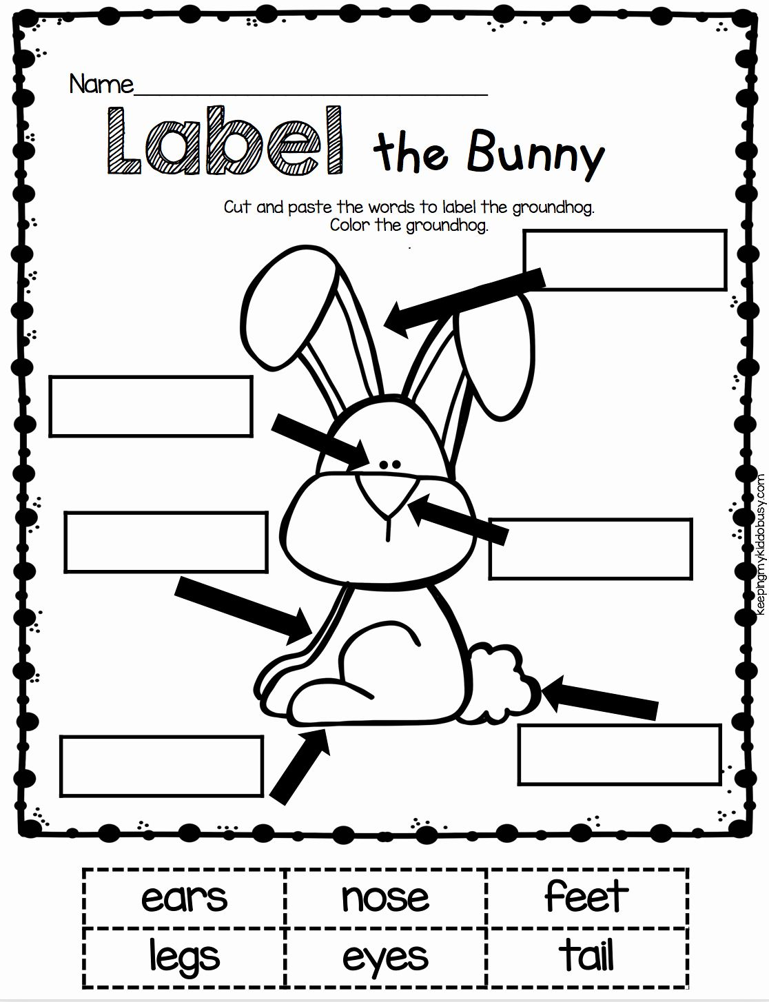 Easter Coloring Activities Kindergarten