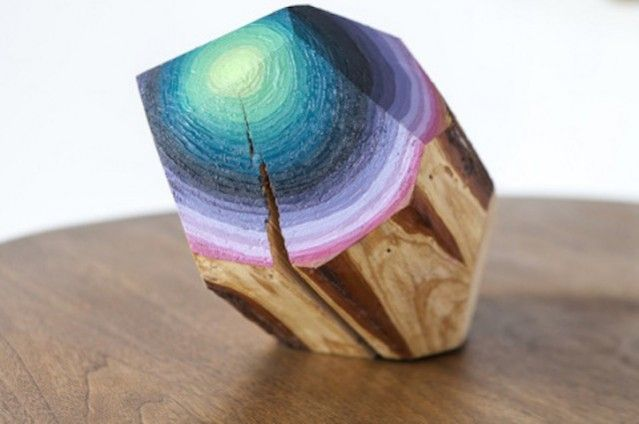 Gradient Painted Piece of Wood