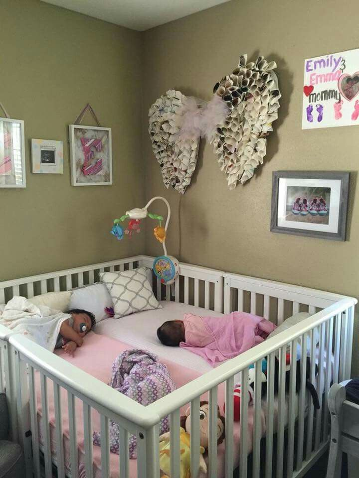 Pin By Madison Taylor On Kids Baby Life Hacks Baby Cribs Nursery Twins