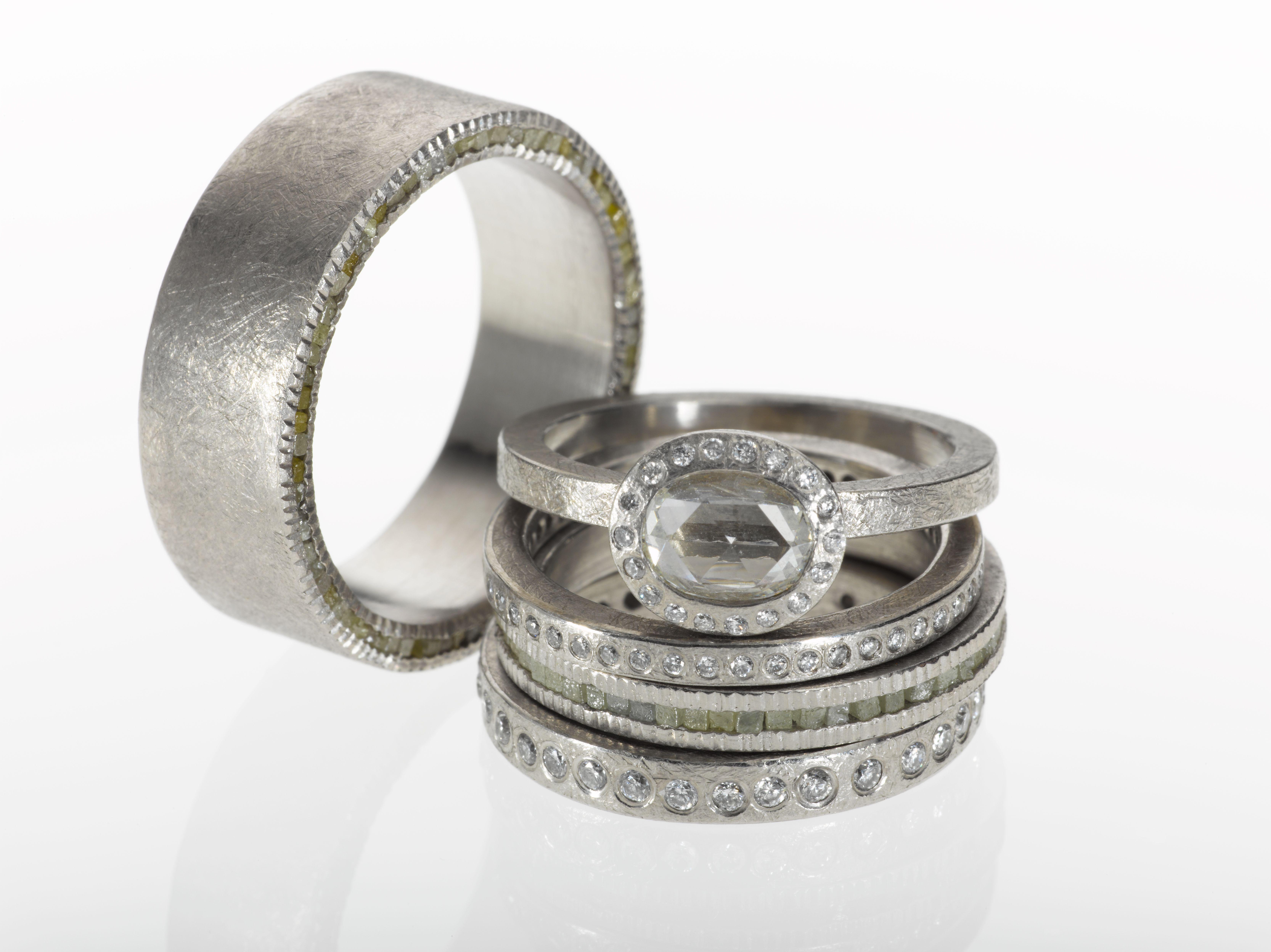 Todd Reed Jewelry Wedding Ring Sets Palladium Wedding Bands Raw