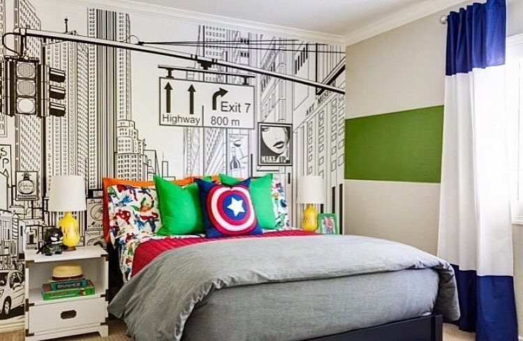 Love This Superhero Room By @jandjdesigngroup!...   Home Decor For Kids
