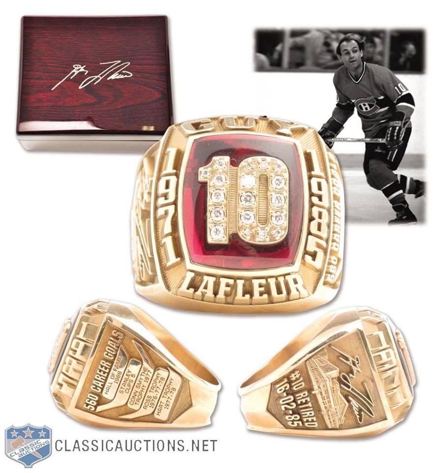 Bague De La Coupe Stanley De Guy Lafleur Les Canadiens De Montreal Montreal Canadiens Montreal Canadians