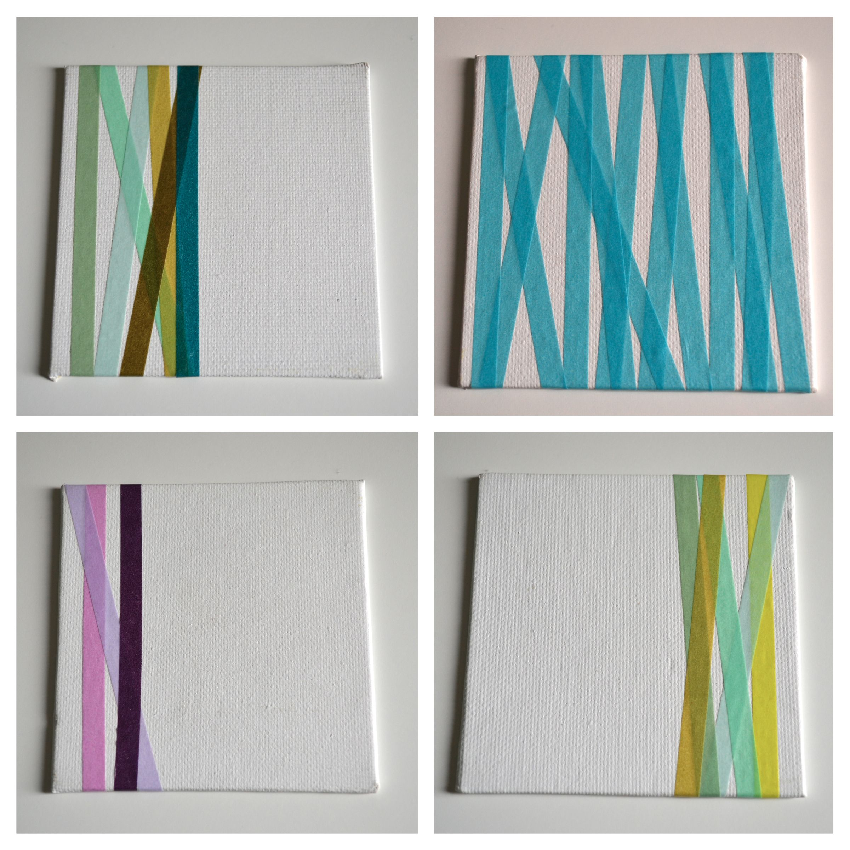 washi tape + canvas = DIY wall art