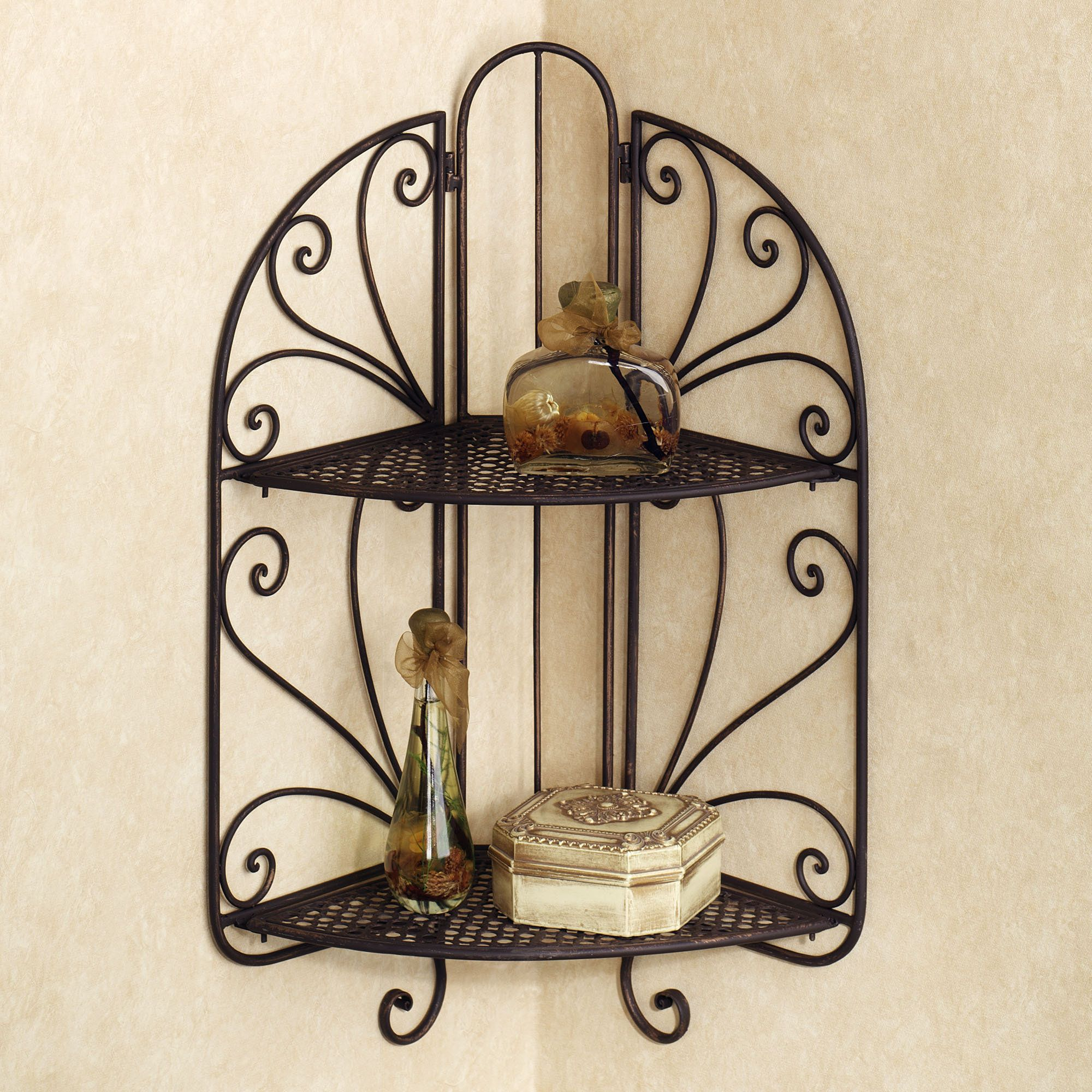 wall shelf wrought iron wall decor iron decor corner wall shelves iron