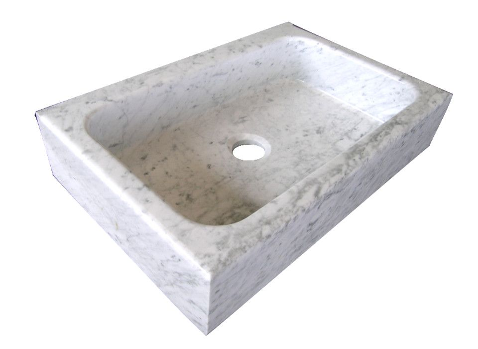 Lavello cucina in marmo con una vasca e testa dritta | Lavelli ...