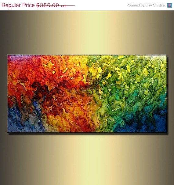 ORIGINAL Modern Abstract Painting by newwaveartgallery on Etsy, $330.00