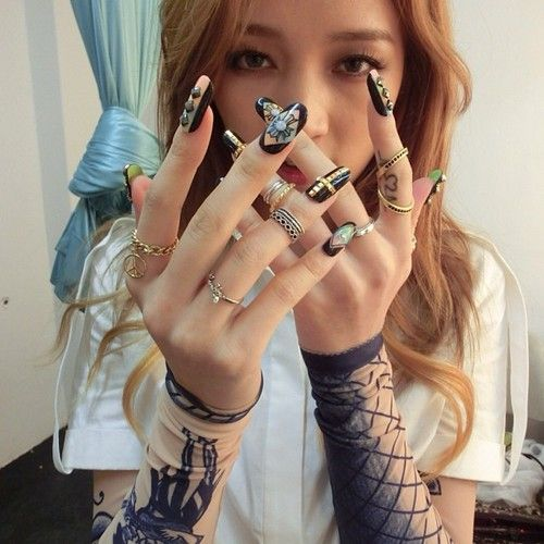 Fy Miss A Korean Nail Art Les Nails Idol Nails