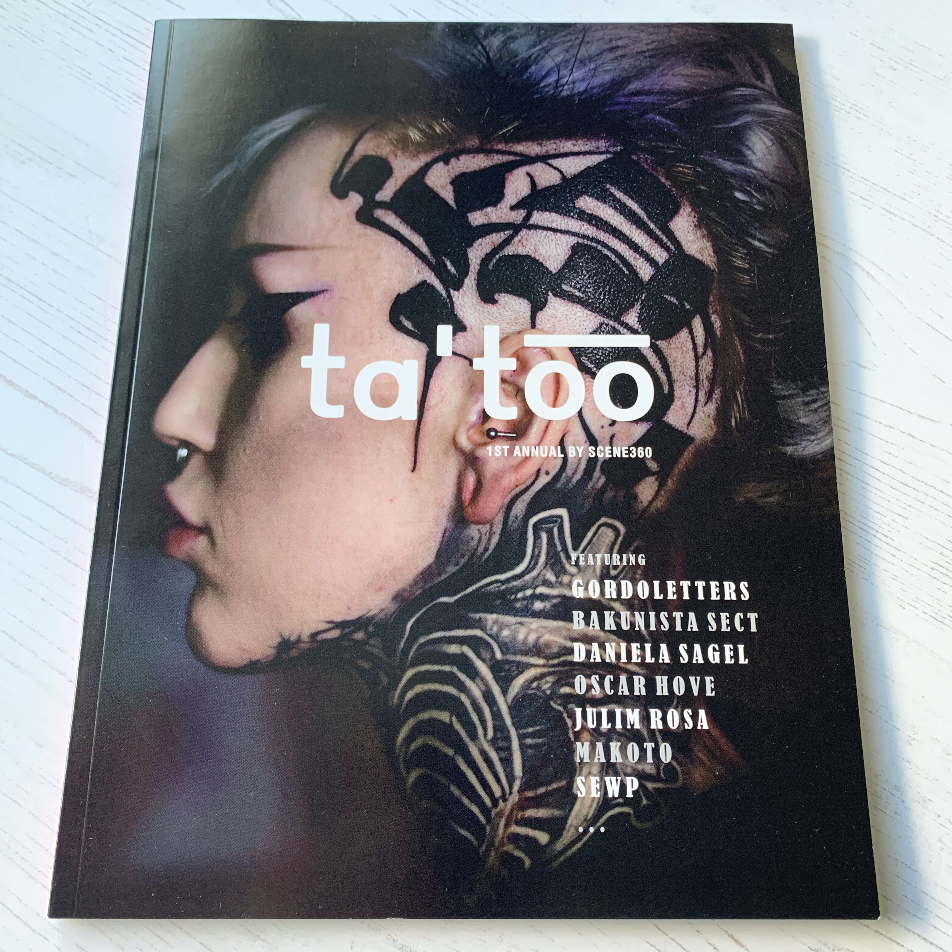 First issue of ta'too book created for Scene 360's 20th anniversary. Featuring a collective of brilliant tattoo artists, their work and interviews. #tattoo #tattoobook #inked #tattooart #tattooartists #scene360 #inkedgirls #inkedboys