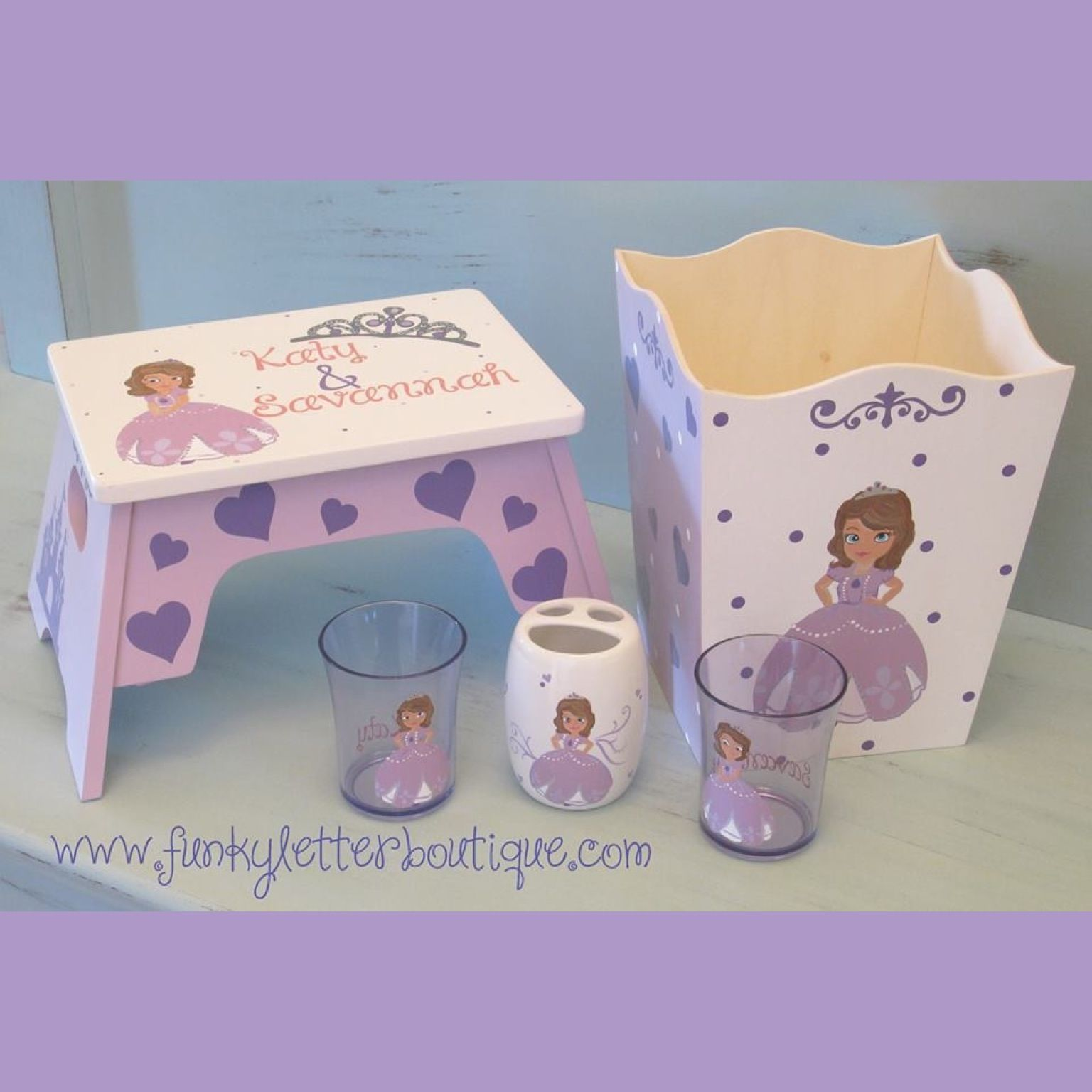 Princess Sofia | Sofia The First | Disney Princess | Kids Hand Painted Decor  | Bathroom