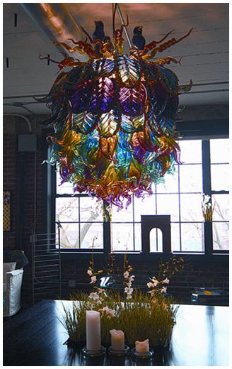 Amazing Glass Chandelier By Ryan Blythe