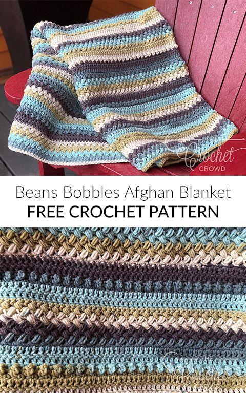 Beans & Bobbles Afghan Blanket Free Crochet Pattern | CROCHET ...