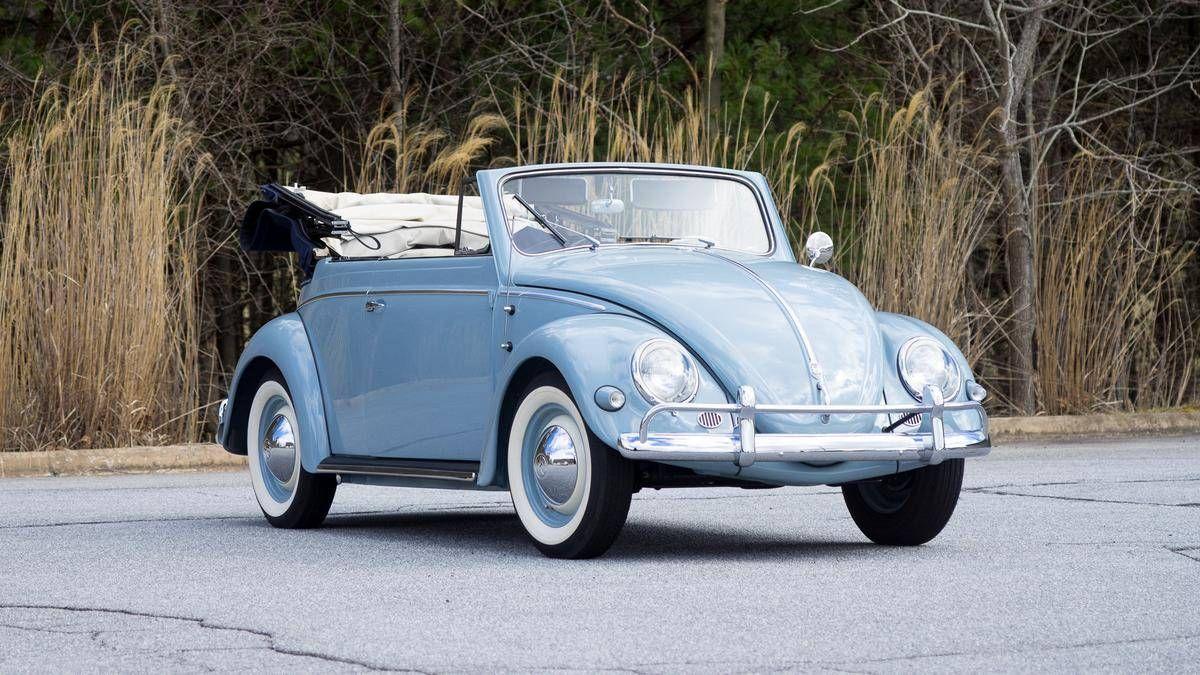 1957 volkswagen beetle convertible cabriolet by karmann