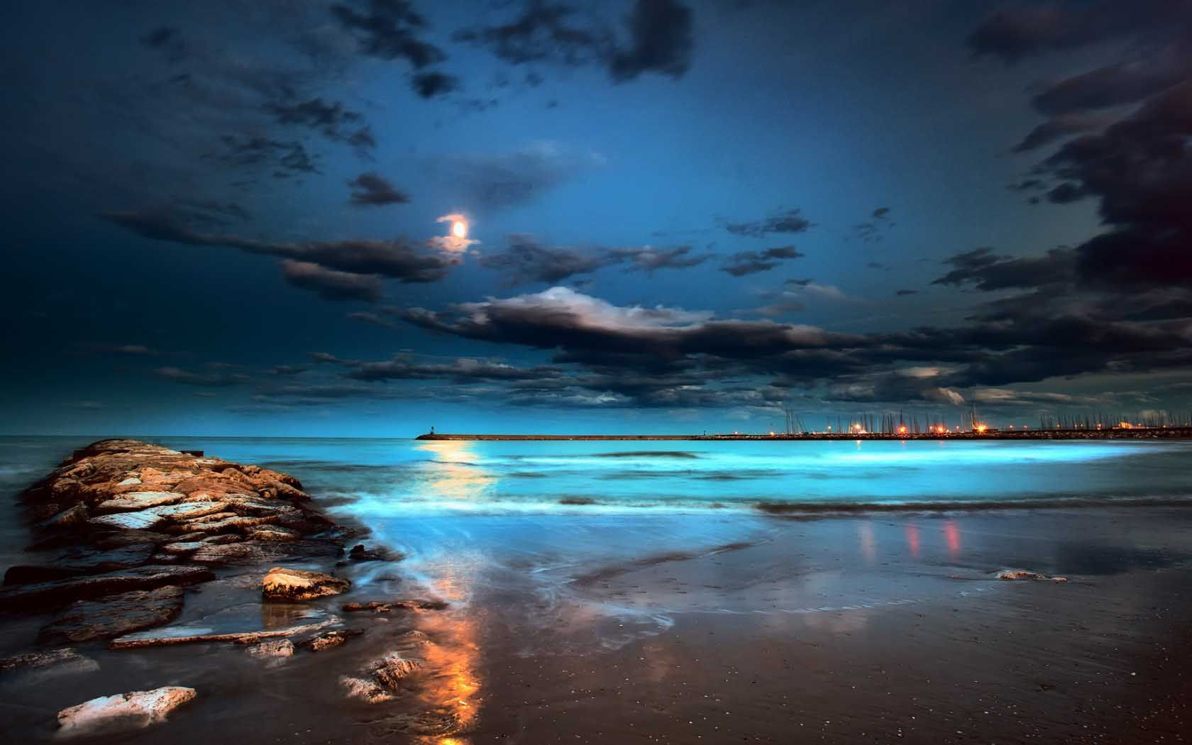 Beautiful Beach Night Wallpapers In Hd For Desktop Fondos De Pantalla Iphone Tumblr Paisajes Italia