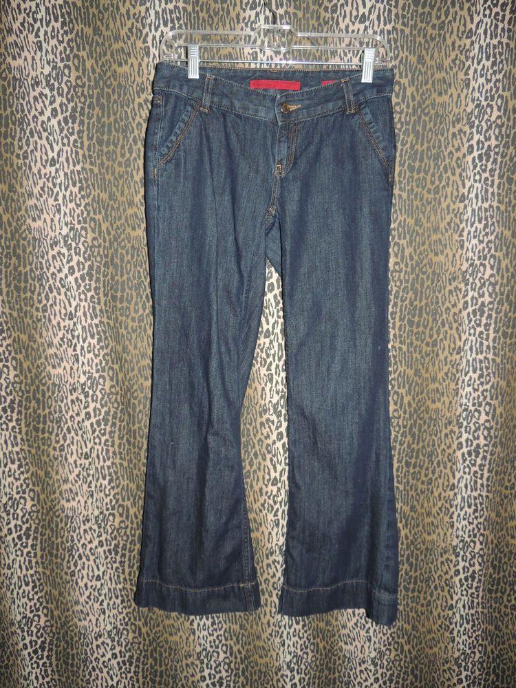Banana Republic Limited Edition Women's 4 Pkt Denim Trouser Blue Jeans Size 4P #BananaRepublic #Trouser