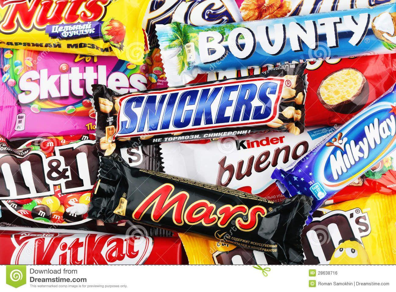 Closeup Of A Variety Chocolate Bars Editorial Photo Image