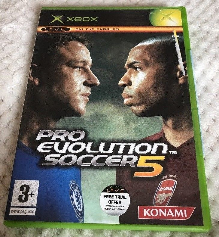 Only £1 74 & Free UK Delivery!! Pro Evolution Soccer 5 Xbox Fast