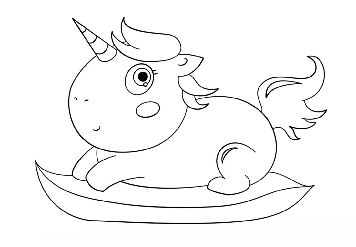 Baby Unicorn Coloring Pages For Preschoolers