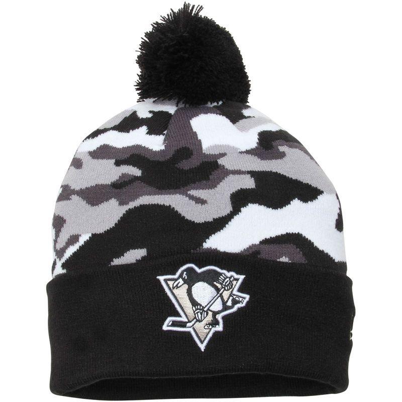 6a1814d3109c7 Pittsburgh Penguins New Era Camo Top 2- Team Knit Beanie – Black Camo