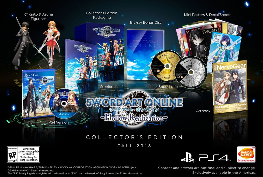 Sword Art Online: Hollow Realization Collector's Edition for