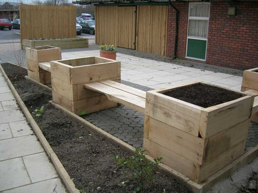 watersides sensory garden and patio with new railway sleepers photo 12