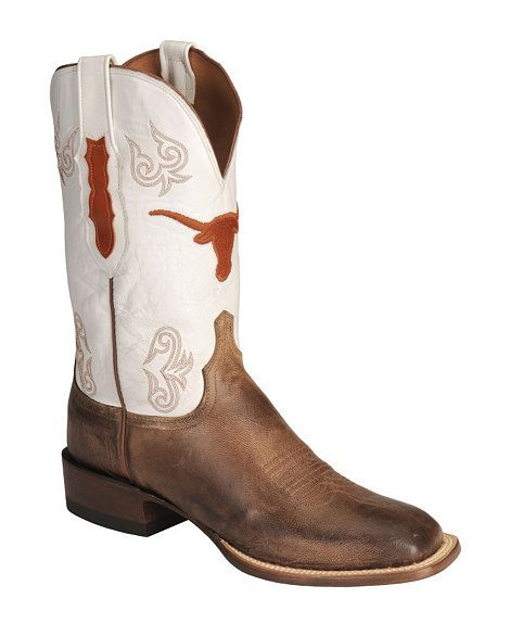 080a355102a Lucchese Boots - Handcrafted 1883 University of Texas Madras Goat ...