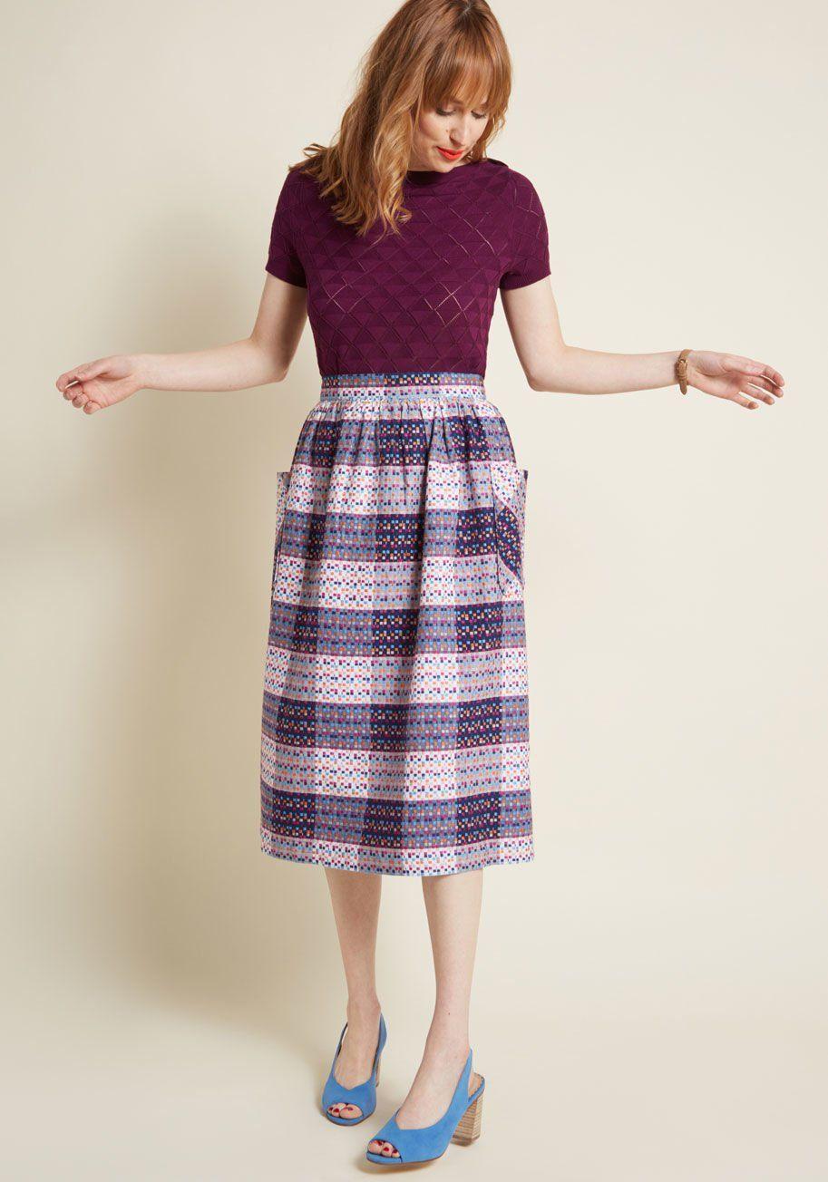 1c756d852090 Fever London Moxie the Spot Midi Skirt in 2019 | Looks We Love ...