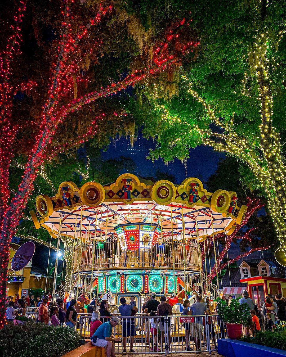 Rockin Around The Carrousel Legolandflorida Katrindel Legoland Florida Florida Resorts Theme Parks Rides