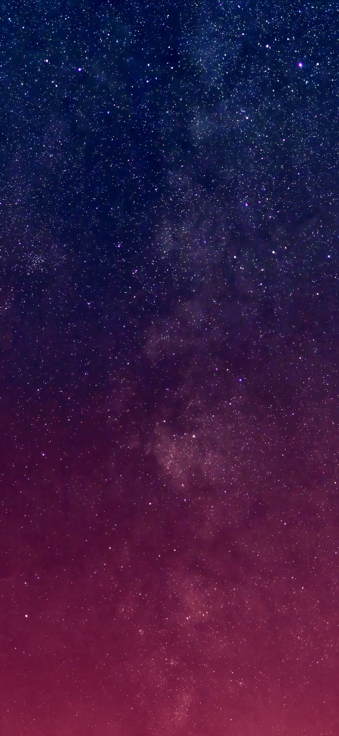 Iphone Xs Ma Wallpaper Milky way stars dusk summer night