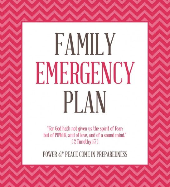 FREE PRINTABLES to create a Family Emergency Plan Binder - free printable sorry cards