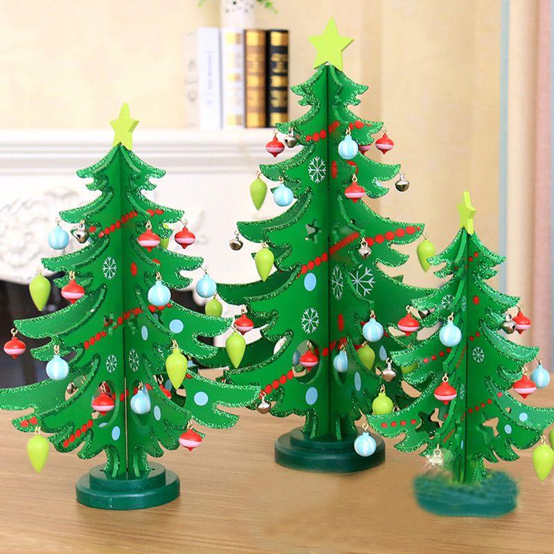 Madera de rboles de navidad y rbol de navidad adornos de - Adornos navidenos para el hogar ...