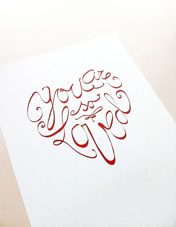 """Download Hand Lettered heart shape - """"You are so Loved"""" by ..."""