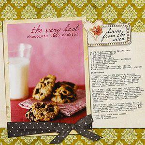 recipe scrapbook idea layouts | Family Recipe Layout Ideas: Design ...