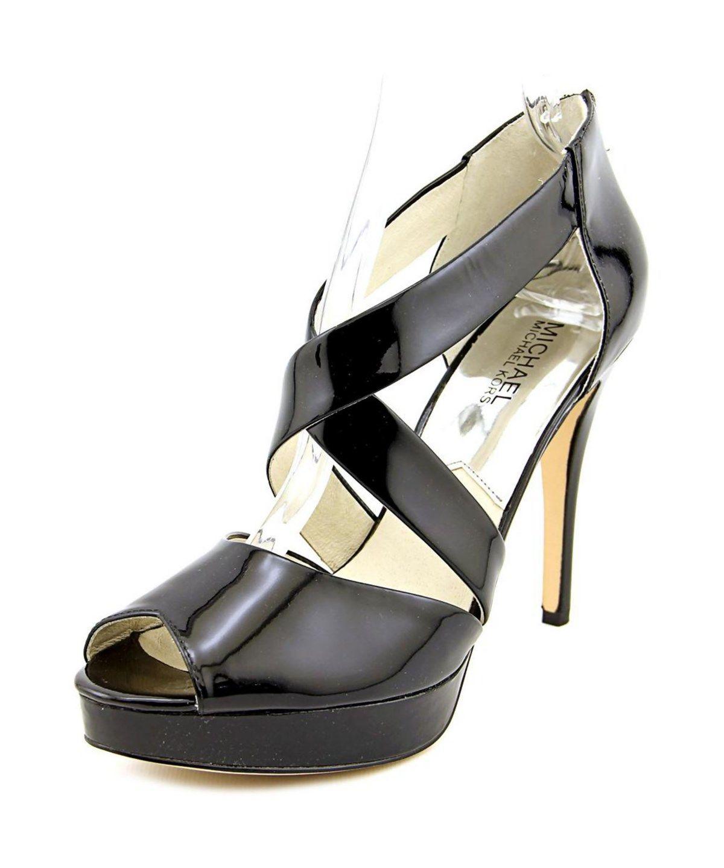 cb15e8a15d7 MICHAEL MICHAEL KORS Michael Michael Kors Ariel Platform Open Toe Patent  Leather Platform Sandal .  michaelmichaelkors  shoes  pumps   high heels