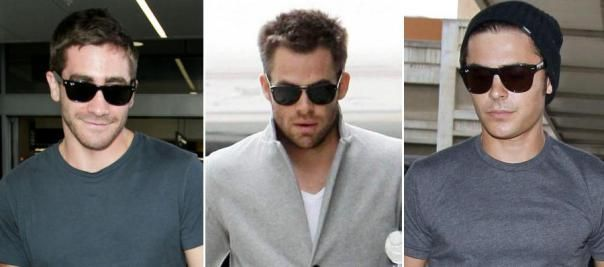 ray ban justin vs wayfarer  vs andy; the rayban wayfarer jake gyllenhaal, chris pine, zac efron