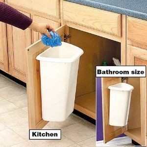 Door mount trash can shop home home organizing cleaning for Trash can ideas for small kitchen