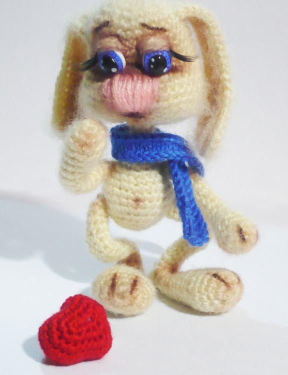 Амигуруми: Заяц. Бесплатная схема для вязания игрушки. FREE ...