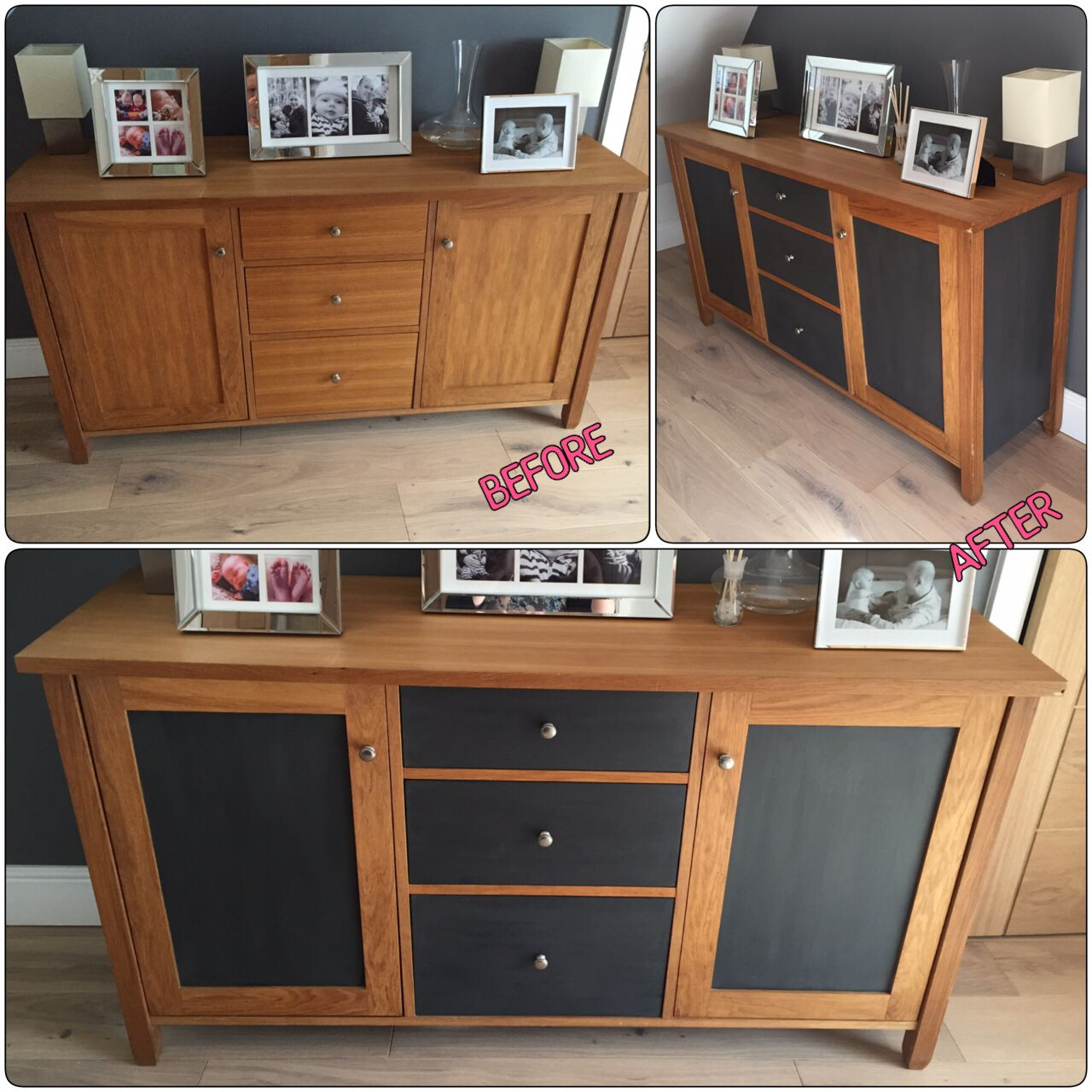 Oak Sideboard Upcycle Before After Door Panels Side Panels And